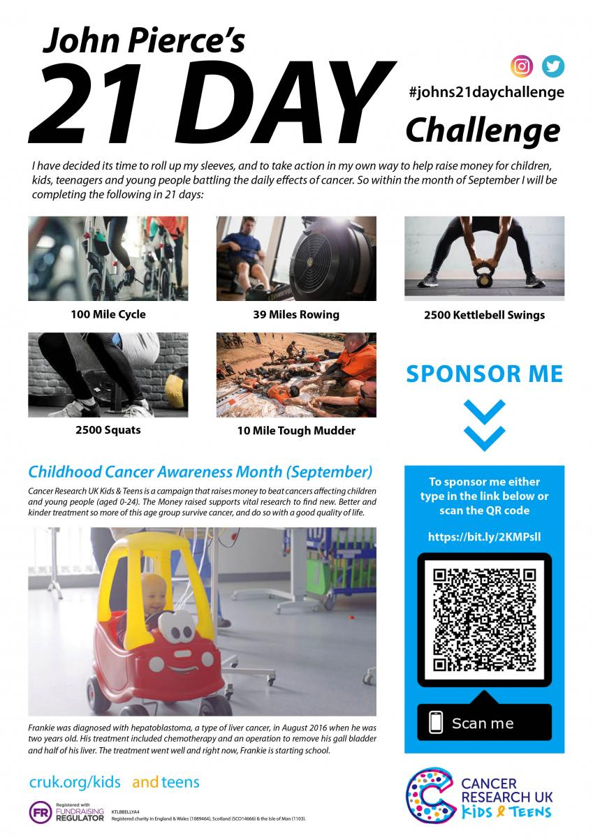 September Fitness Challenges Supporting Childhood Cancer
