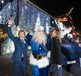 Christmas Lights Switch-on @ Pimlico Plumbers 2015 - With Lisa Snowdon.