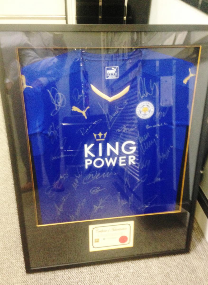 Proud Owner Of The Latest Signed Leicester City Shirt!    Pimlico ... dea5dff72