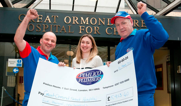 Pimlico Plumbers supporting Great Ormond Street Hospital